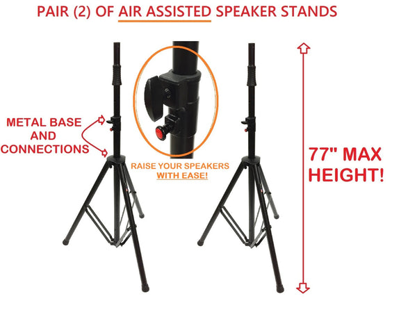 Two (pair) of LK-PROAIR Tripod Air Assisted Speaker Stands