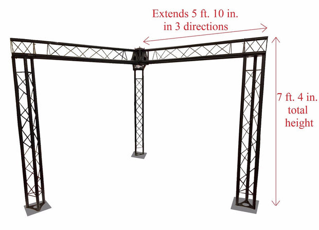 Trade Show Booth, Trusses DJ Stage 7' x 5' Metal Truss Triangle Trusses Black