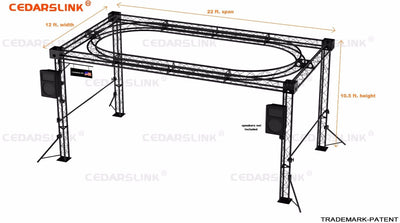 Trade Show Booth, Trusses DJ Stage 22' X 12' X 10' Metal Truss Triangle Trusses