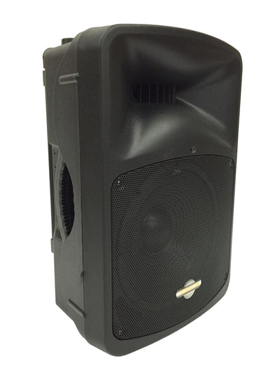 "LK-12ABM 12"" 2 Way Amplified Loudspeaker With BlueTooth and Wireless Mic Set"