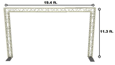 Complete 19ft Square Aluminum Truss Goal Post Lighting System DJ Lights Speakers