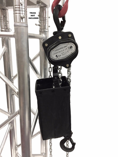 LK-1T 1 Ton 2000 LB Hand Chain Block Manual Hand Hoist with 26' Lift DJ Trussing Truss