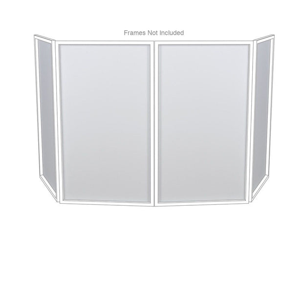 DJ Event Facade DJ Booth White Replacement Scrims 4-Pack Lycra Panels