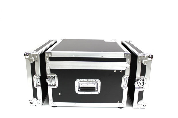3LTM6U-D18 Six U Three Lid Flight Case With Adjustable Top Rails