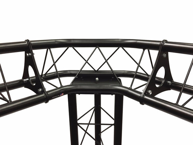 3 Way Triangle Truss Corner Black Metal DJ Lighting PA Trussing Bolted System