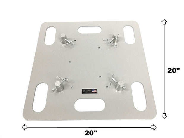 "LK-2020 20""x20"" Base Plate For Square, Triangle, or Linear Lighting Truss"