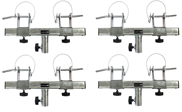 Four (4) Triangle or Square Truss Adapter Bracket Tripod Crank Light Stand Bar