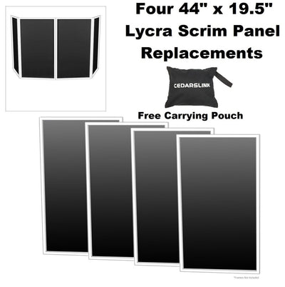 DJ Event Facade DJ Booth Black Replacement Scrims 4-Pack Lycra Panels