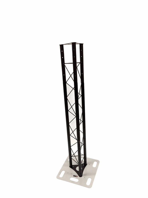 Two (2) Totem 2m 6.56ft Black Triangle Metal Truss Tower + Base Vertical System