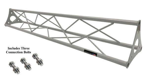 1 Meter 3.28 ft Silver Lighting Triangle Bolted Truss Universal DJ Metal ARCH-SAT