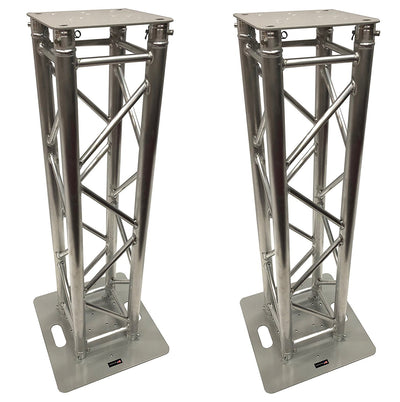 (2) DJ Lighting Aluminum Truss Light Weight Dual 4.92 ft Totem System Moving Head