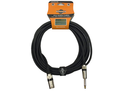 "LK-MONO-MX25 Premium XLR Male-1/4"" 100% Copper Cable 3-Pin Shielded"
