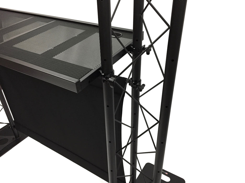 BEAST-5 DJ Event Facade White/Black Scrims Triangle Truss Booth Complete Arch System