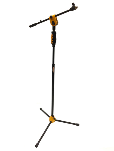 LK-2103Y Yellow Professional Microphone Stand With Easy Height Quick Adjustment Handle