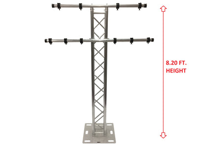8.20FT 2.5 Meter Aluminum Plasma TV Mount Stand Stage/Club DJ Lighting Truss Tower