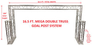 Complete 16.5 ft Square Aluminum Double Truss Goal Post Lighting System DJ Lights