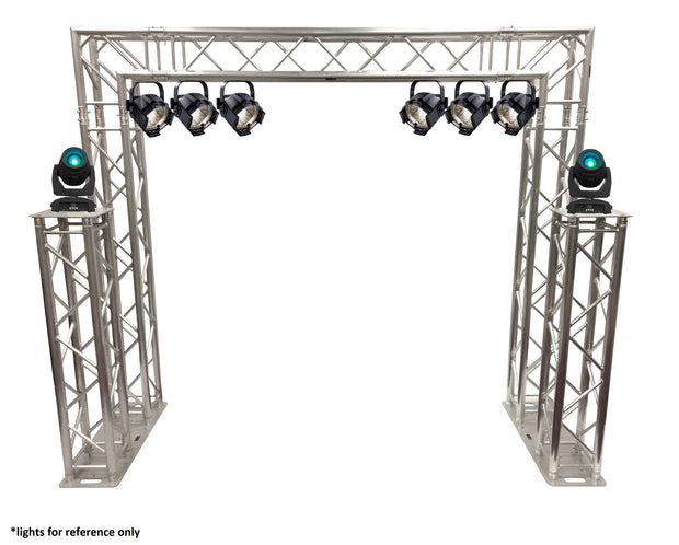 Complete 10ft Square Aluminum Double Truss Goal Post Lighting System DJ Lights