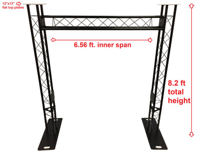 Black Truss Arch Kit 8.20 ft. Height Mobile Portable DJ Lighting System Metal Bolts