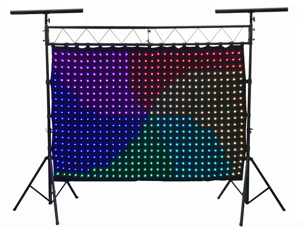 LED-600 600 pcs. 3D RGB LED Curtain 2 Meters x 3 Meters With LK-X10 Lighting Truss Combo