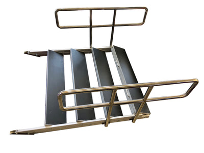 4 ft. Wide Aluminum Heavy-Duty Staircase For Staging Riser
