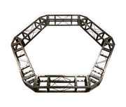 Industrial Grade 6.2ft Hexagonal Truss Circle, Six-Sided Lighting Truss