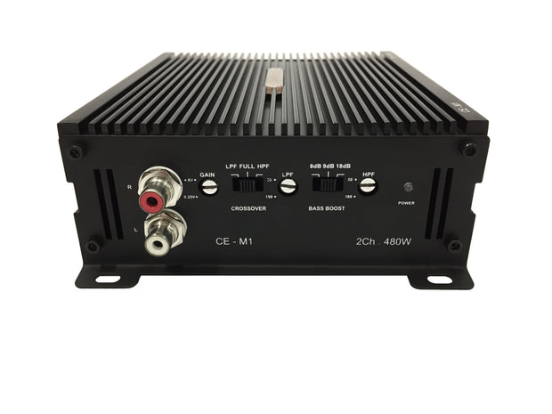 CE-M1 2-Channel 480 Watts Mini Bridgeable Amplifier
