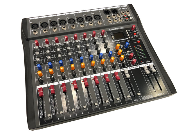 CE-8XUB Premium 8 Channel Bluetooth Mixer Console With Effects Processor