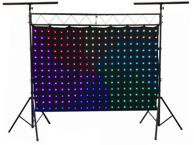 LED-240 240 pcs. RGB LED Curtain 2 Meters x 3 Meters With LK-X10 Lighting Truss Combo
