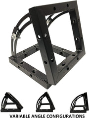 "Variable Angle Adjustment Square Black Bolt Trussing 8""x8"" Truss Corner 90 Degree"