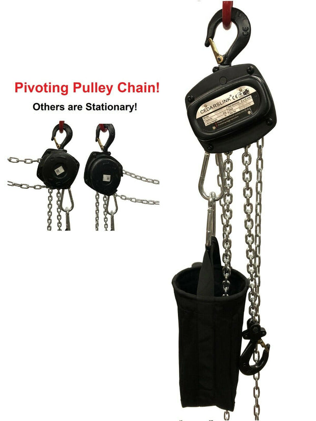 1 Ton Pivoting Hand Chain Block Manual Hand Hoist 26' Lift DJ Trussing Truss