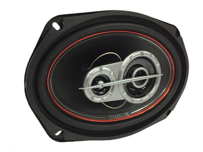 "LK-693 4 OHM 6x9"" 3-Way Coaxial Speaker System"