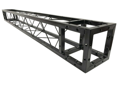 "2 Meter 6.56 ft. Square 8""x8"" Black Trussing Box Truss Section Bolted"