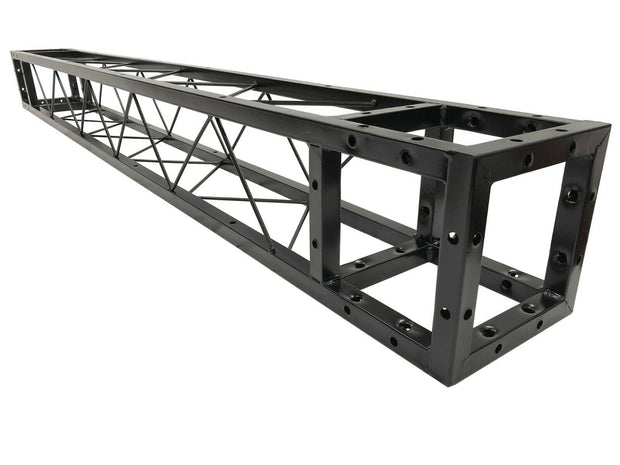 "LK-20200 2 Meter 6.56 ft. Square 8""x8"" Black Trussing Box Truss Section Bolted"