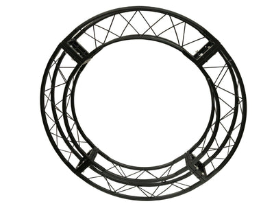 "58"" 4.8 ft. Circle Truss Black Square Trussing 4 x 90 degree arcs"
