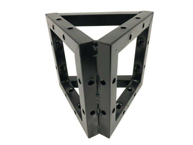 "Cedarslink 3-Way Triangle For Square Black Bolt Trussing 8""x8"" Truss Corner"