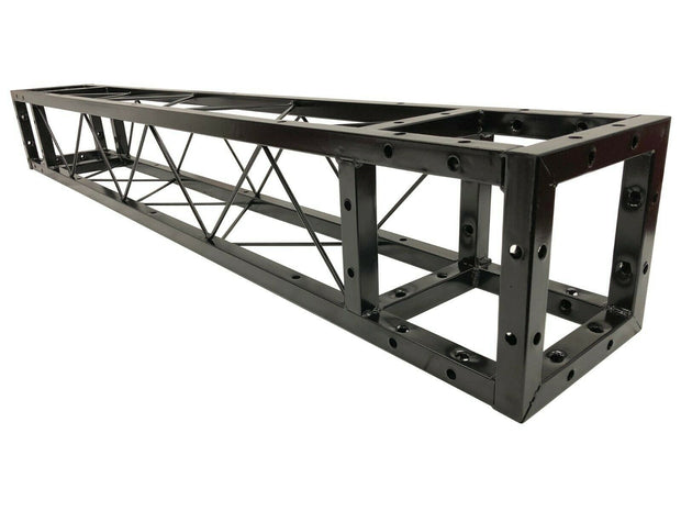 Industrial Grade 6.4ft Triangular Truss Shape, Three-Sided Lighting Truss, With Corners, , With Two Support Bases Plates