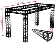 Black Truss Exhibition Booth KIT 13 ft Width/ 7.2 ft. Height Mobile Portable DJ Lighting System