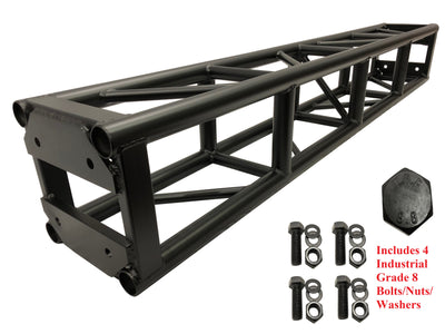 "LK-3030.2 Black 6.56ft 2 Meter Bolt Aluminum 11.81"" Box Square Trussing Truss"