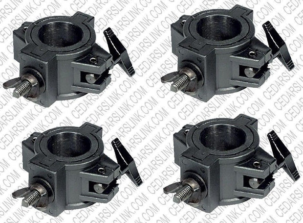 Four (4) O CLAMPs - DJ & Stage Lighting Heavy Duty Mounting O Clamps for Stand and Truss