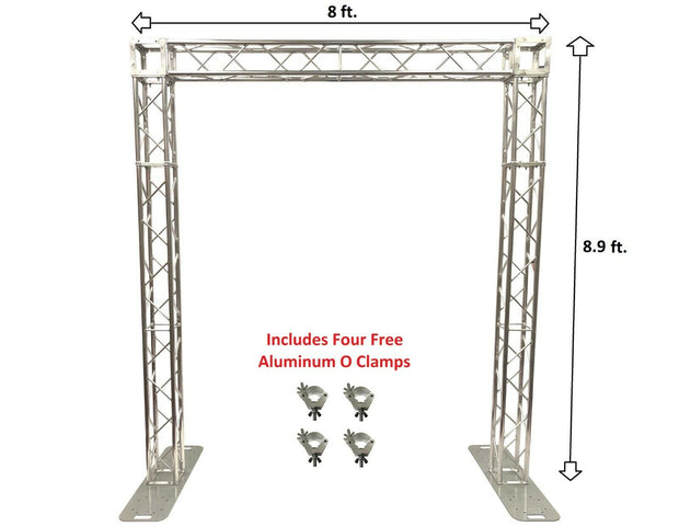 8.9 ft Height Square Aluminum Truss Goal Post System For DJ Lights Speakers PA