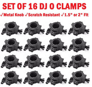 Sixteen (16) O CLAMPs - DJ & Stage Lighting Heavy Duty Mounting O Clamps for Stand and Truss