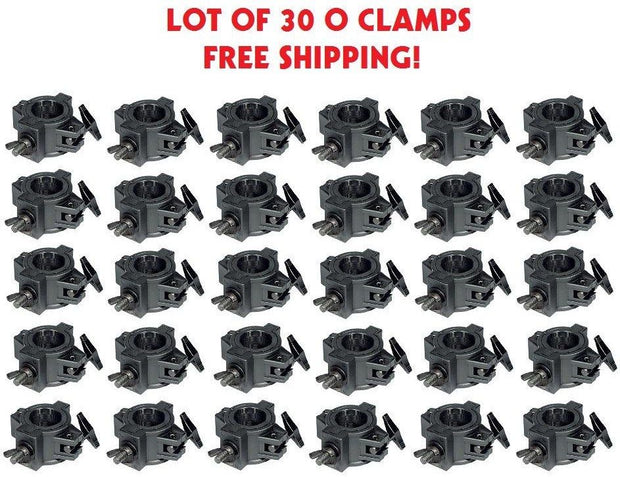 Thirty (30) O CLAMPs - DJ & Stage Lighting Heavy Duty Mounting O Clamps for Stand and Truss