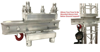 2-Way Ground Support Top Section for Box Truss Chain Hoist Fits Global F34