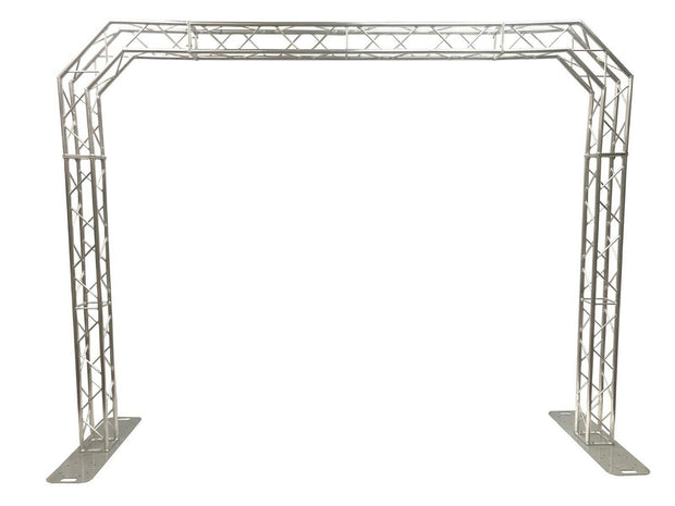 Aluminum Truss Arch Kit 12.8ft Wide 9.4ft High Portable DJ Lighting System Bolts