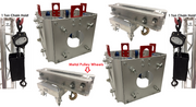 (2)Square Box Truss Sleeves+(2) Ground Support Top Sections+(2)1 Ton Chain Hoist