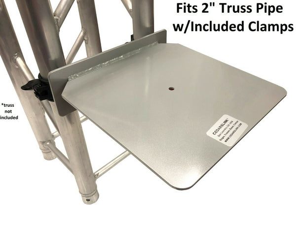 "LK-SHELF - Cedarslink Truss SHELF Aluminum Shelf Plate w/ 2 1.5""/ 2"" Clamps - 12 D x 12 W"