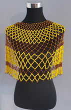 Load image into Gallery viewer, Yellow and Brown Zulu Beads