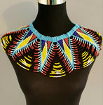 Zulu Multi coloured beaded necklace/Zulu Collared Necklace  blue, yellow, red, white