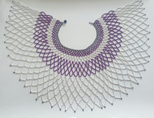 Load image into Gallery viewer, Purple and White Zulu Beads