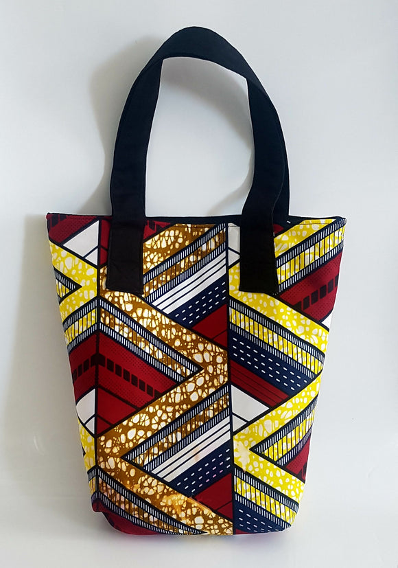 African Wax Multi Coloured Tote Bag